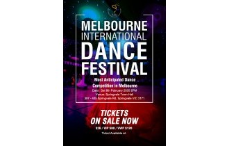 票务|2020年2月8号Melbourne International dance Festival,购票进行中